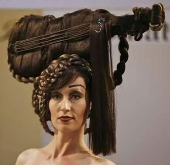 صوره تسريحة شعر غريبة موديلات تساريح شعر جديدة