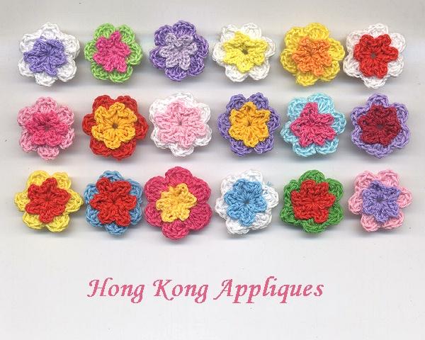 صوره الورود بالكروشيه بالوان جميله