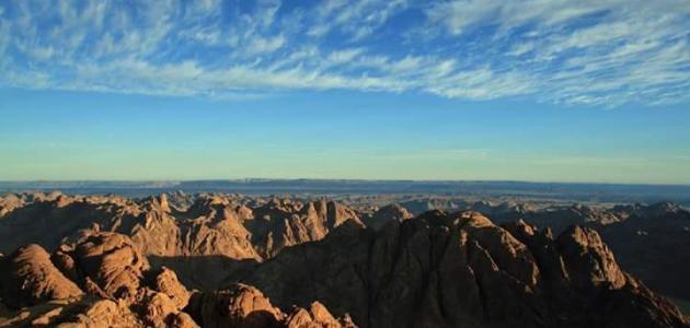 اين يُوجد جبل موسى