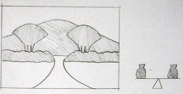 صوره الخط الخارجي للشكل الكانتورى