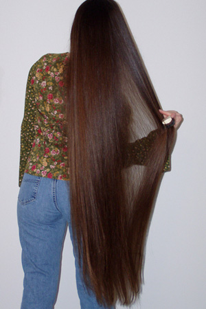 صور خلطة تطويل الشعر 10 سم