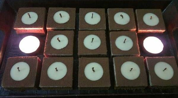 صور طريقة عمل حلى الشموع