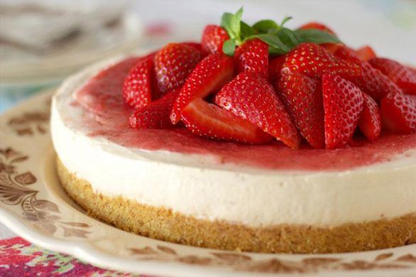 بالصور طريقة عمل تشيز كيك فراولة بالصور Strawberry Cheesecake 7