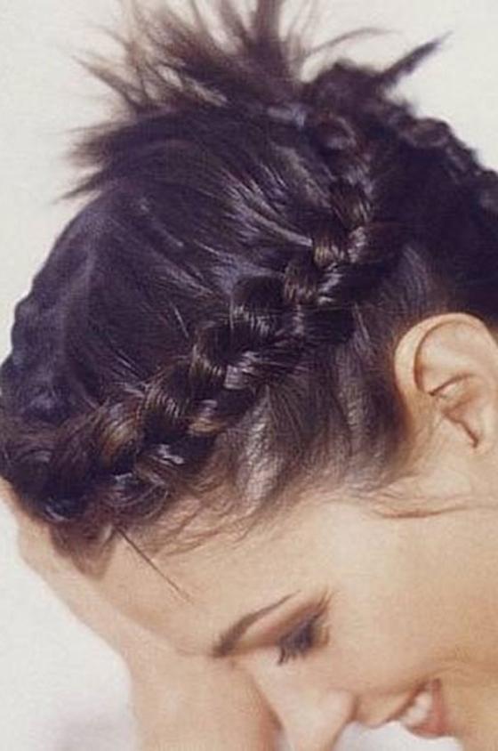 بالصور صور اشكال مختلفة لضفائر الشعر short hair braids8