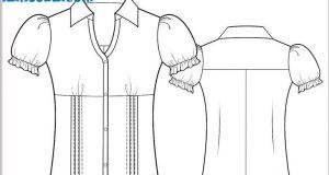 صوره طريقة عمل باترون قميص نسائي