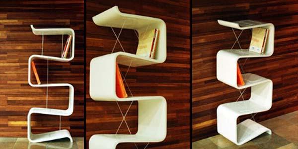 تصميمات مبتكرة للمكتبة المنزلية 6