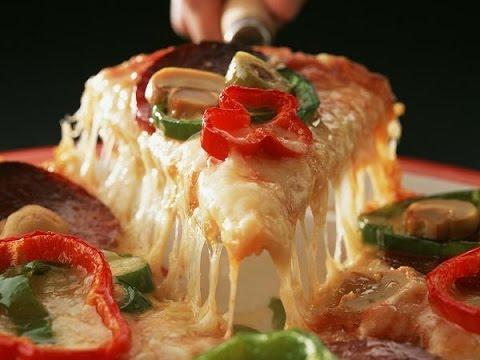 صوره مكونات لطبخ البيتزا بطريقة مجربة