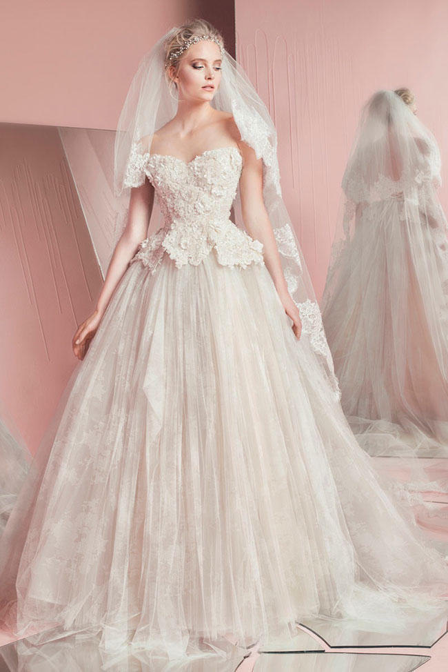 صوره اجمل فساتين زفاف 2017 للمصمم زهير مراد