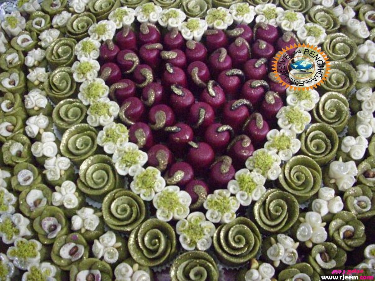 تزيين الحلويات فِي صينية العروس kl71hdx0z6xuyy5m3vb3