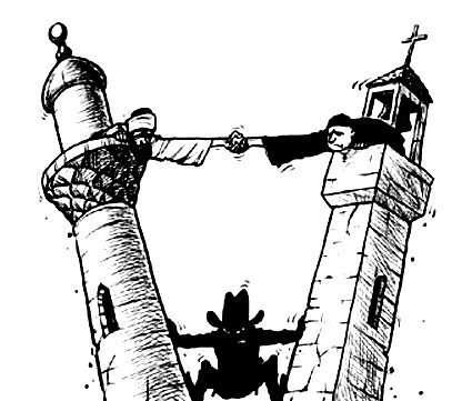 صوره تعانق الهلال مع الصليب