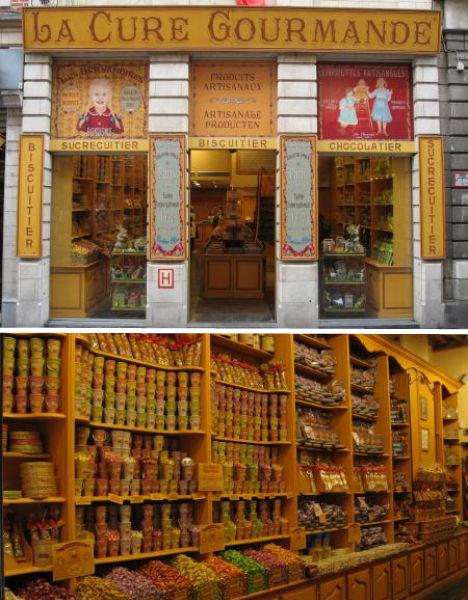نظرة خارِجية وداخلية للمحلات الجميلة