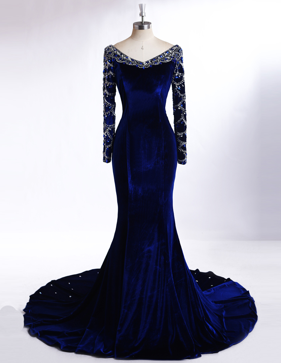 http://g01.a.alicdn.com/kf/HTB1ZLZqKpXXXXboXFXXq6xXFXXXD/2016-New-Royal-Blue-Long-Sleeve-Floor-Length-font-b-Velvet-b-font-Mermaid-Prom-font.jpg