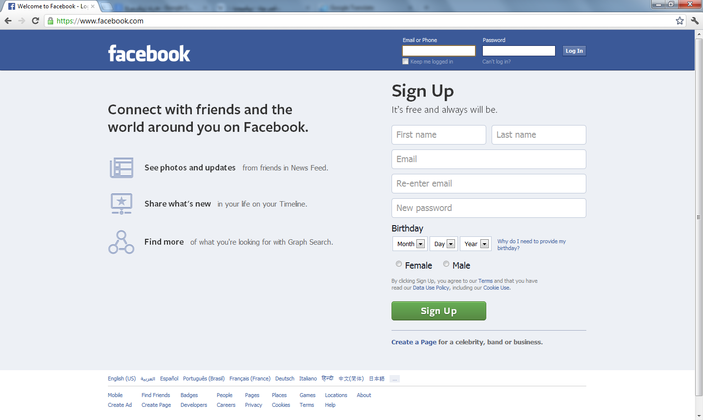 صوره طريقة عمل حساب على الفيس بوك جديد
