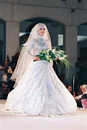 فساتين عروس محجبات2018 1)
