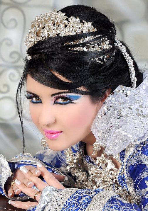 صور احدث تسريحات مغربية للعرائس