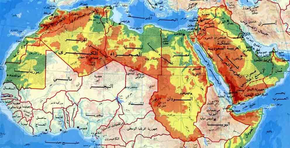 بالصور خريطة كاملة لتضاريس العالم 20160709 1617