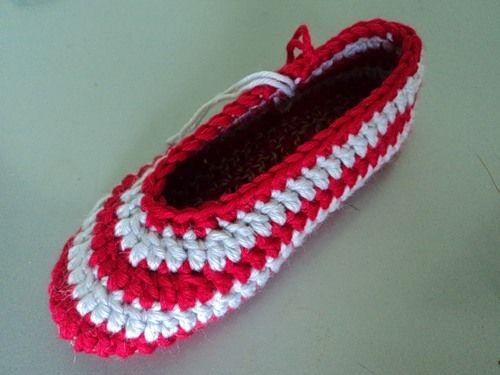 صور طريقة عمل احذية بالكروشية للاطفال