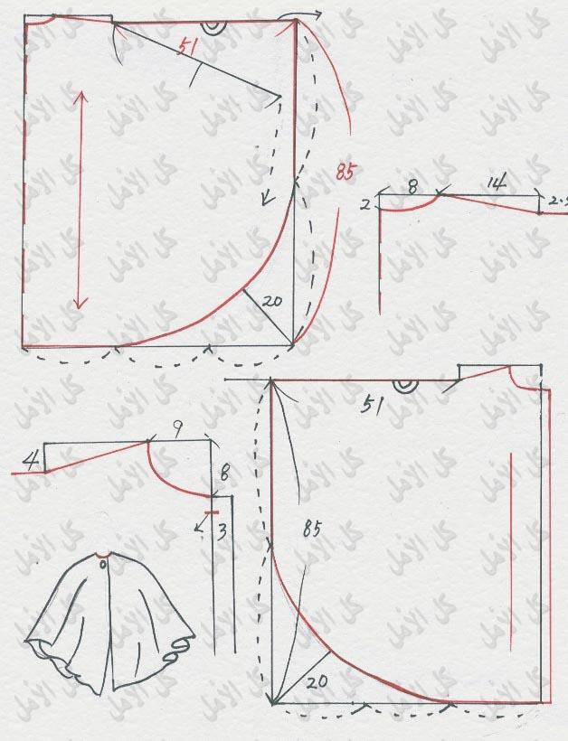 صور طريقة تفصيل باترون كراكو