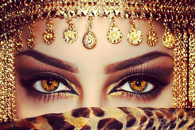 مكياج عيون بدوي