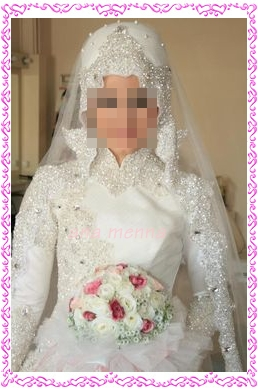 صوره احدث فساتين زفاف للمحجبات 2018