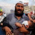محاولة قوات الامن فض اعتصام انصار الرئيس المعزول محمد مرسي بميدان رابعة العدوية بمدينة نصر، 14 اغسطس 2013.