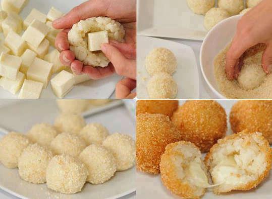 صوره طريقة عمل كرات البطاطس المقلية بالجبنة