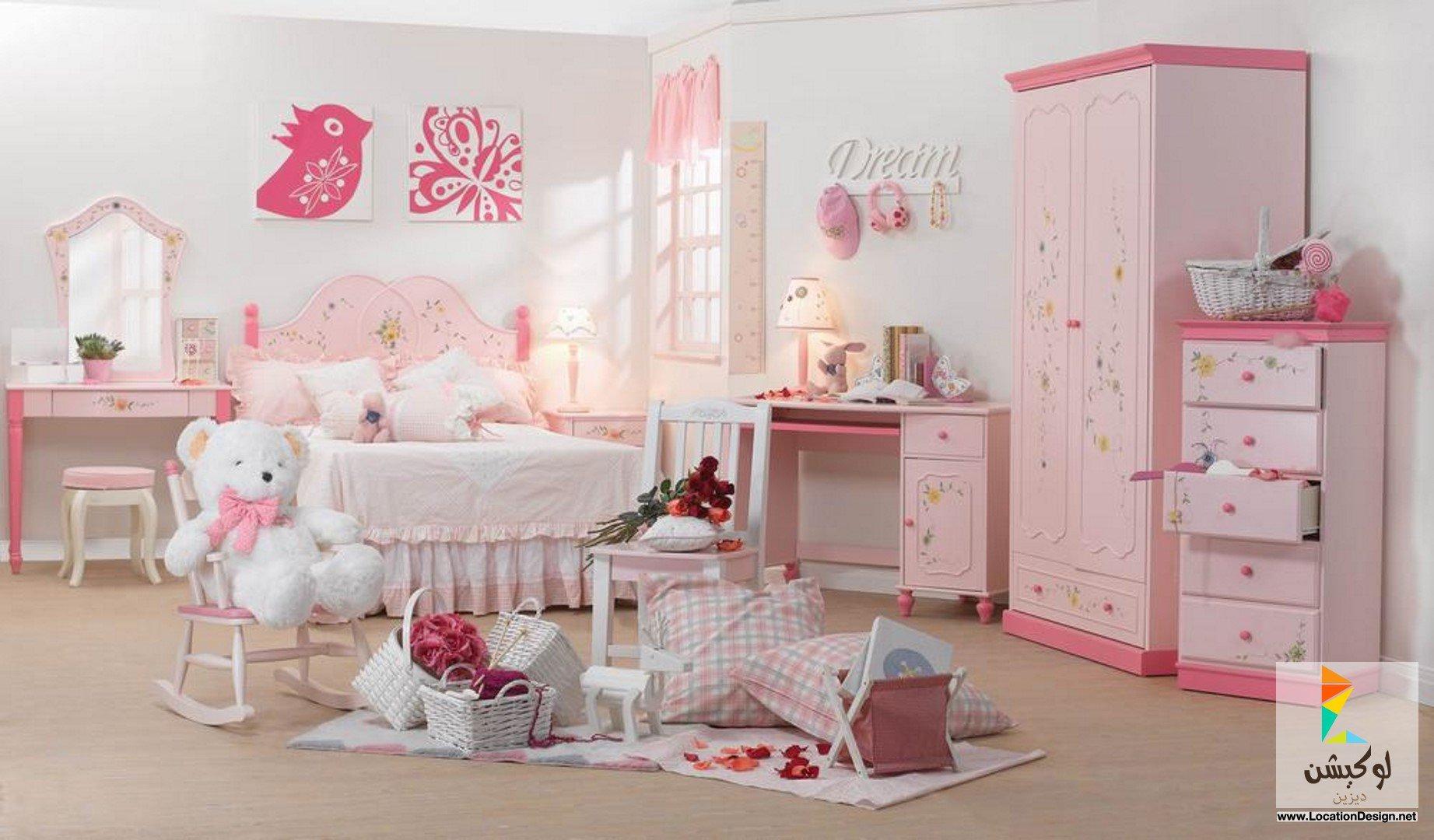 صوره دهانات غرف اطفال باللون البينك