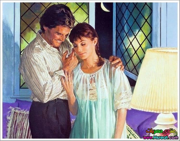 لوحة رومانسية بقميص النوم و الروب.jpg