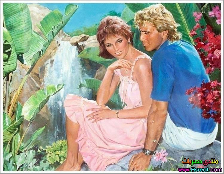 لوحة رومانسية بين الزهور.jpg