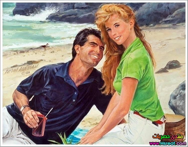 لوحة رومانسية على الشاطئ.jpg