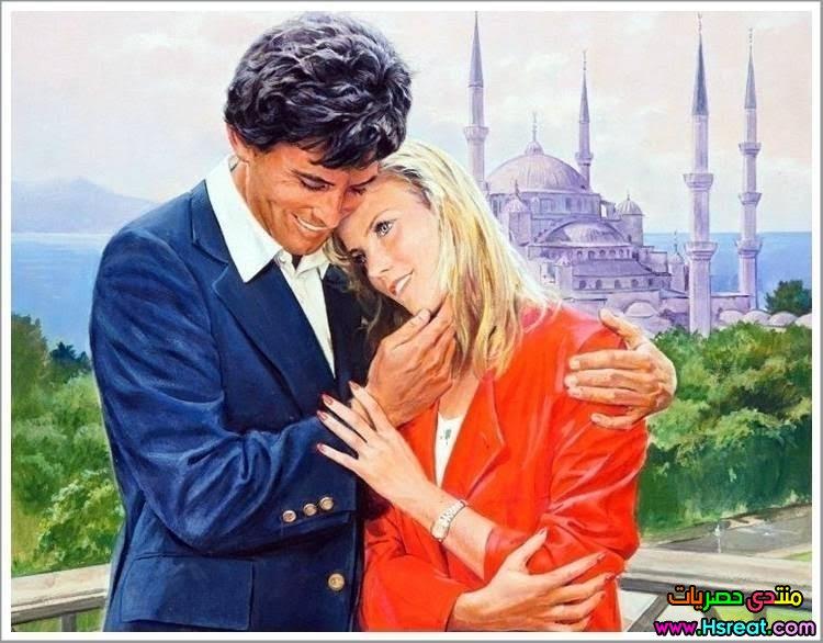 لوحة رومانسية مع القلعة و البحر.jpg