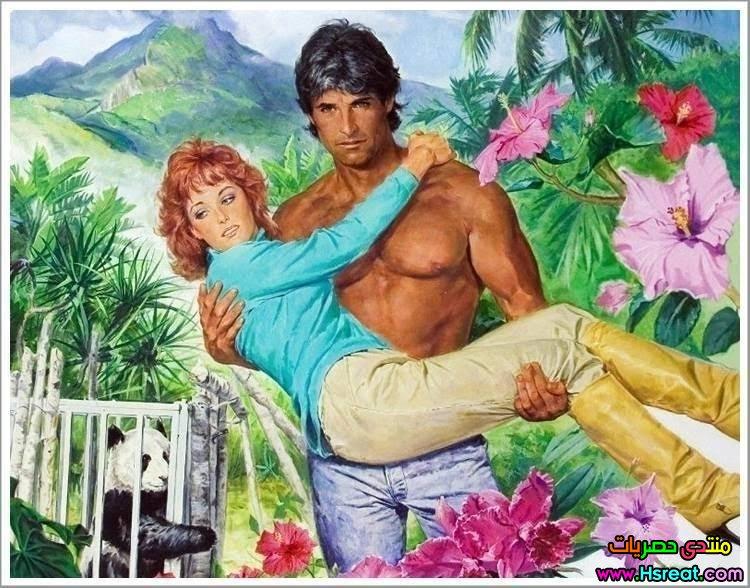 لوحة شاب صدرة عارى يحمل حبيبته.jpg