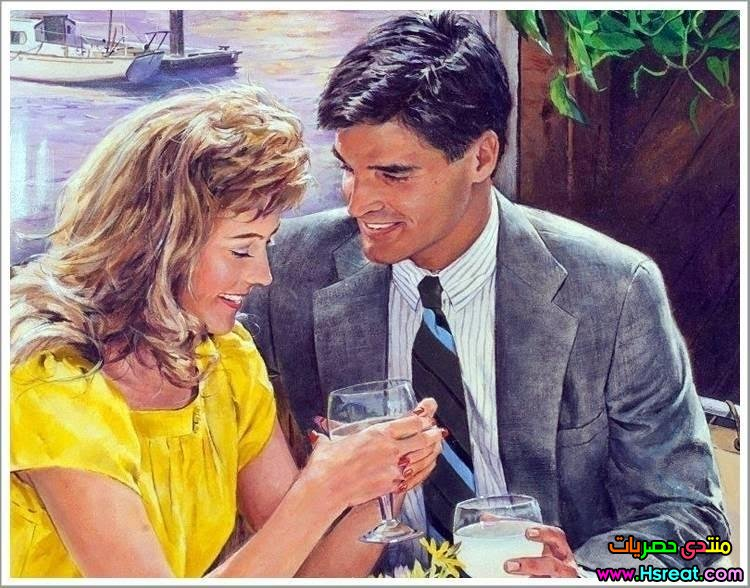 لوحة كبلز شاب و سيم و حبيبته.jpg