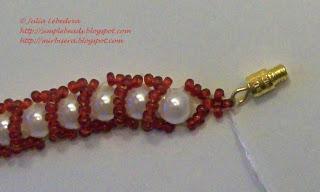اساور خرز مع كيفية العمل beaded_red_bracelet_