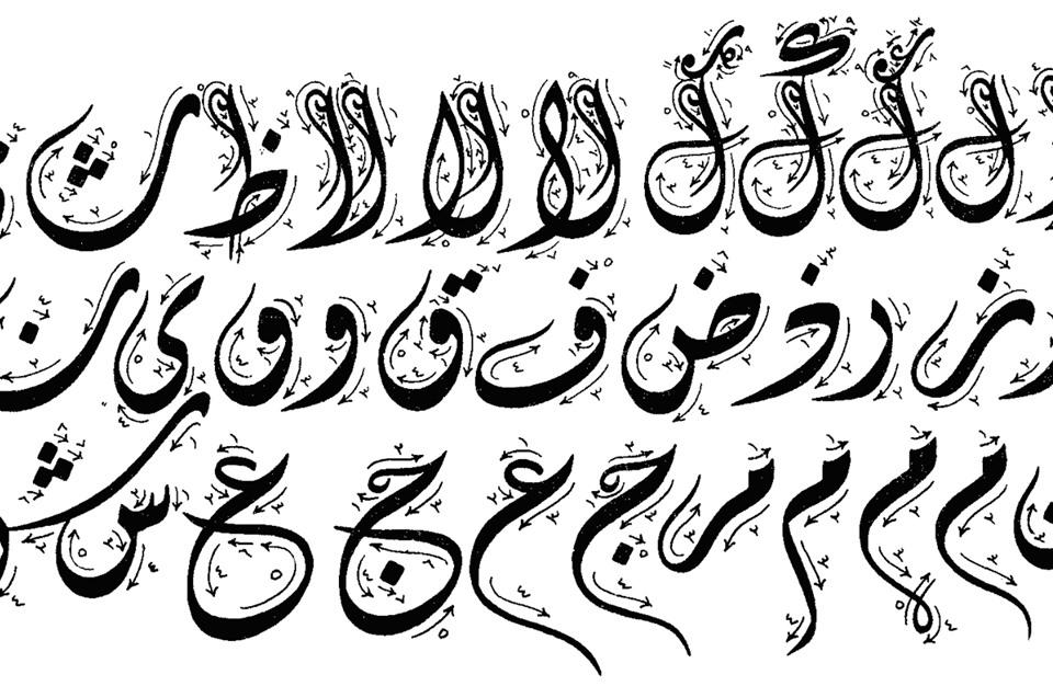 صوره بحث حول الخط العربي