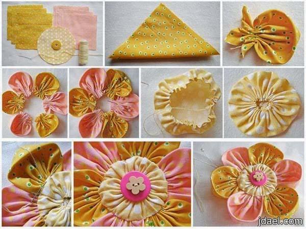 بالصور كيفية صناعة الورد بالقماش 20160715 1616