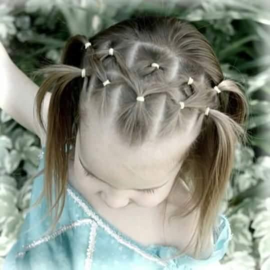 تساريح شعر للاطفال البنات