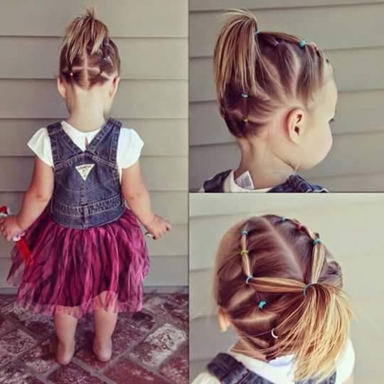 تساريح شعر للاطفال فتيات شعر قصير