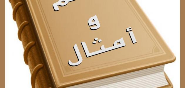 حكم و أمثال عربيه