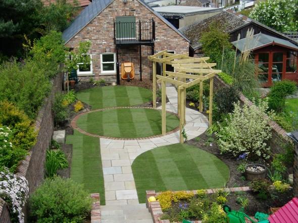 تصميم مبهر حديقة المنزل الصغيرة