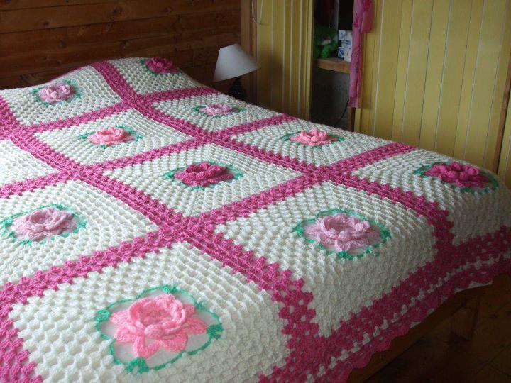 صور طريقة عمل مفرش سرير