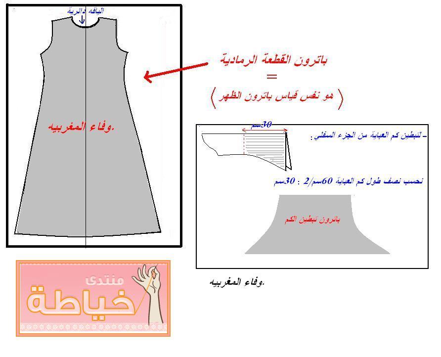 كيفية خياطة عباية شيك  طريقة خياطة عباية شيك  لخياطة عباية شيك 67691hayah.jpg