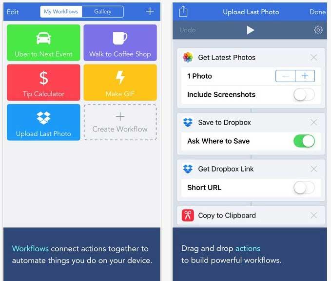 تطبيق Workflow للايفون  افضل تطبيقات ألايفون