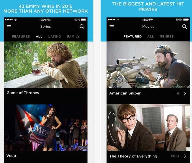 تطبيق HBO NOW للايفون
