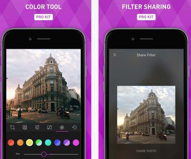 Darkroom تطبيق تعديل الصور للايفون