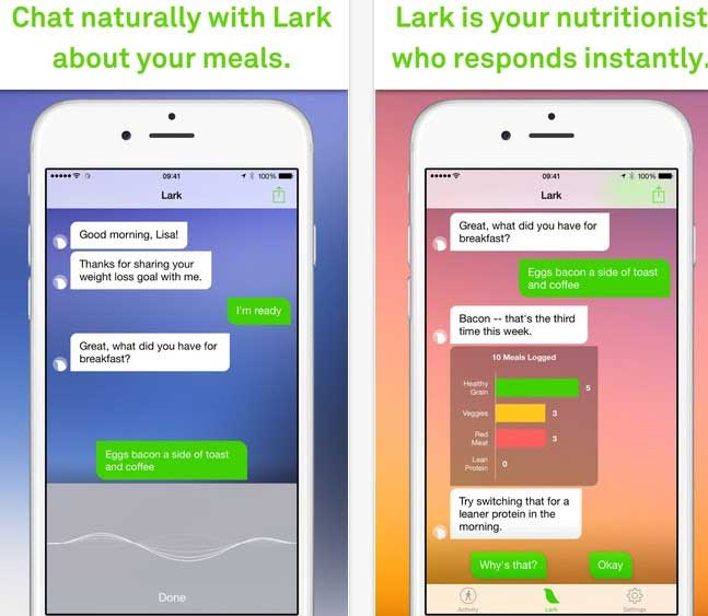 تطبيق ألتخسيس Lark للايفون