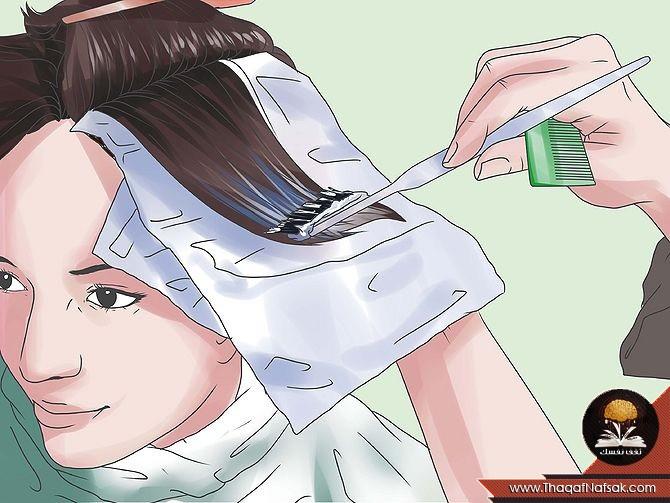 صوره كيفية صبغ الشعر في البيت بالصور