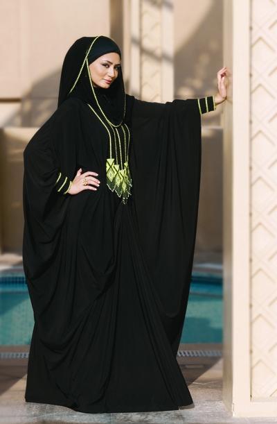 بالصور العباءة الخليجية باجمل التصاميم