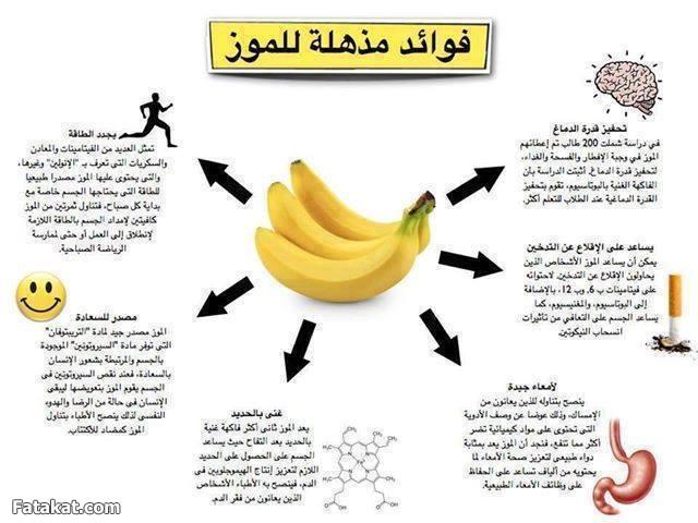 بالصور فوائد الموز و اضرار تناوله بكثرة وحقيقة زيادته للوزن 20160723 1063