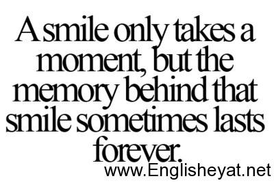 صورة عبارات بالانجليزي عن الابتسامه
